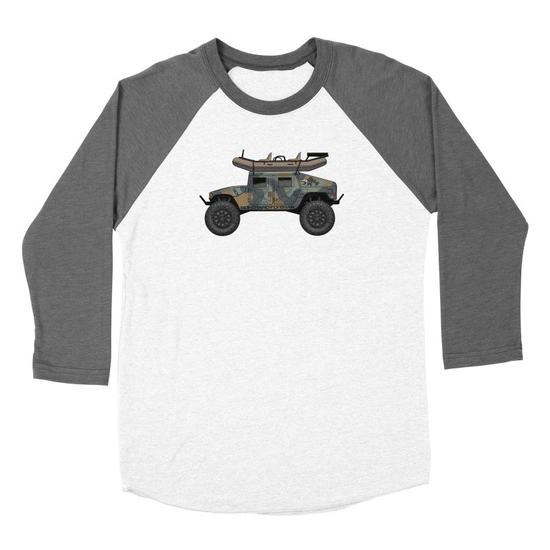 Humvee Adventure Rig Men's Baseball Triblend Longsleeve T-Shirt by Boneyard Studio - Boneyard Fly Gear