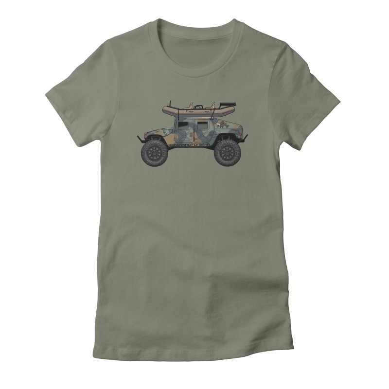 Humvee Adventure Rig Women's Fitted T-Shirt by Boneyard Studio - Boneyard Fly Gear