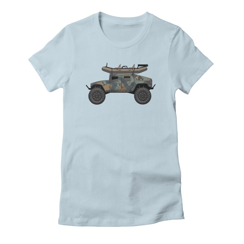 Humvee Adventure Rig Women's T-Shirt by Boneyard Studio - Boneyard Fly Gear
