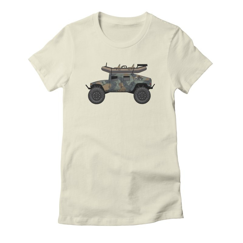 Humvee Adventure Rig Women's Fitted T-Shirt by Boneyard Studio - Boneyard Fly Gear