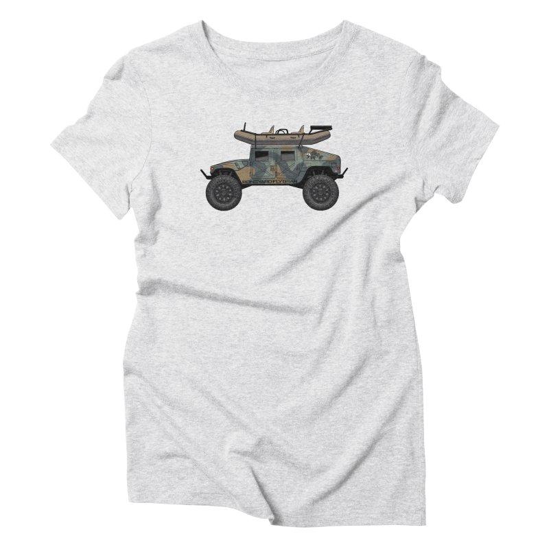 Humvee Adventure Rig Women's Triblend T-Shirt by Boneyard Studio - Boneyard Fly Gear