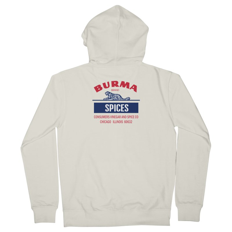Burma Spices Men's French Terry Zip-Up Hoody by Boneyard Studio - Boneyard Fly Gear