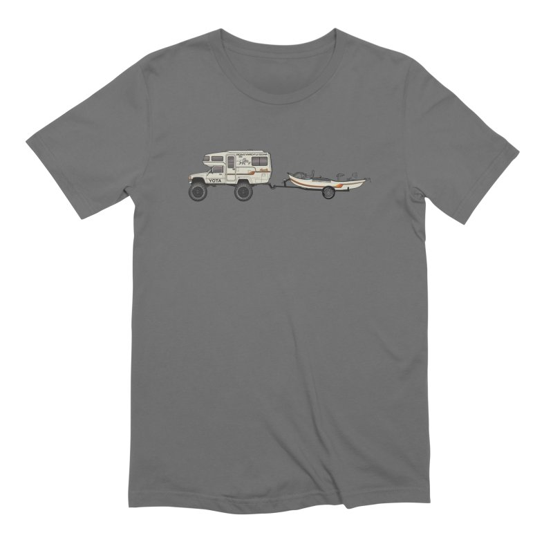 Toyota Sunrader Adventure Rig Men's Extra Soft T-Shirt by Boneyard Studio - Boneyard Fly Gear