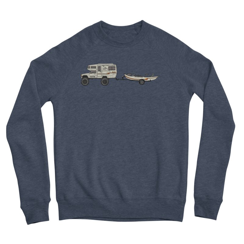 Toyota Sunrader Adventure Rig Men's Sponge Fleece Sweatshirt by Boneyard Studio - Boneyard Fly Gear