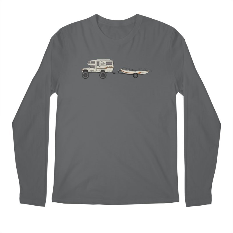 Toyota Sunrader Adventure Rig Men's Longsleeve T-Shirt by Boneyard Studio - Boneyard Fly Gear