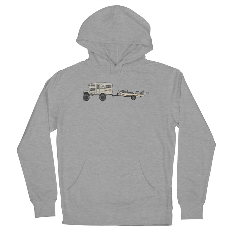 Toyota Sunrader Adventure Rig Men's French Terry Pullover Hoody by Boneyard Studio - Boneyard Fly Gear
