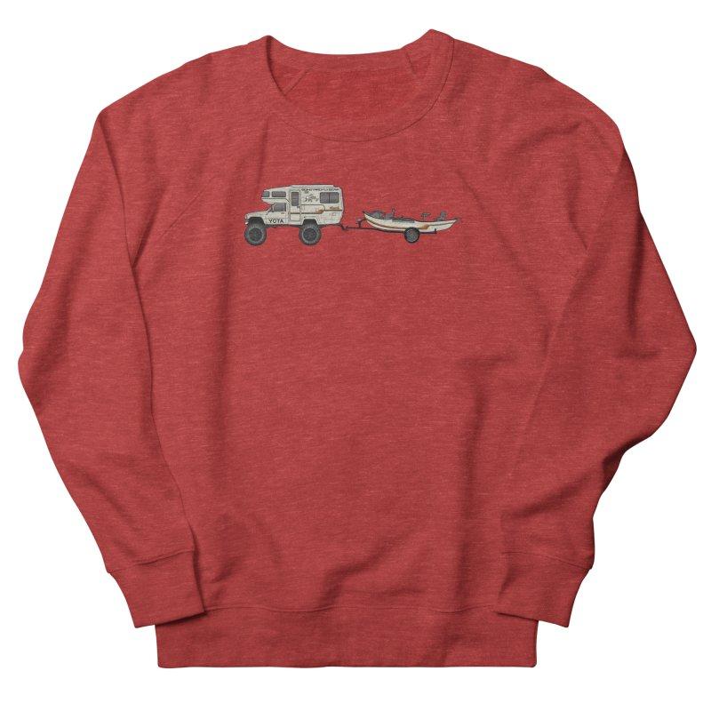 Toyota Sunrader Adventure Rig Men's French Terry Sweatshirt by Boneyard Studio - Boneyard Fly Gear