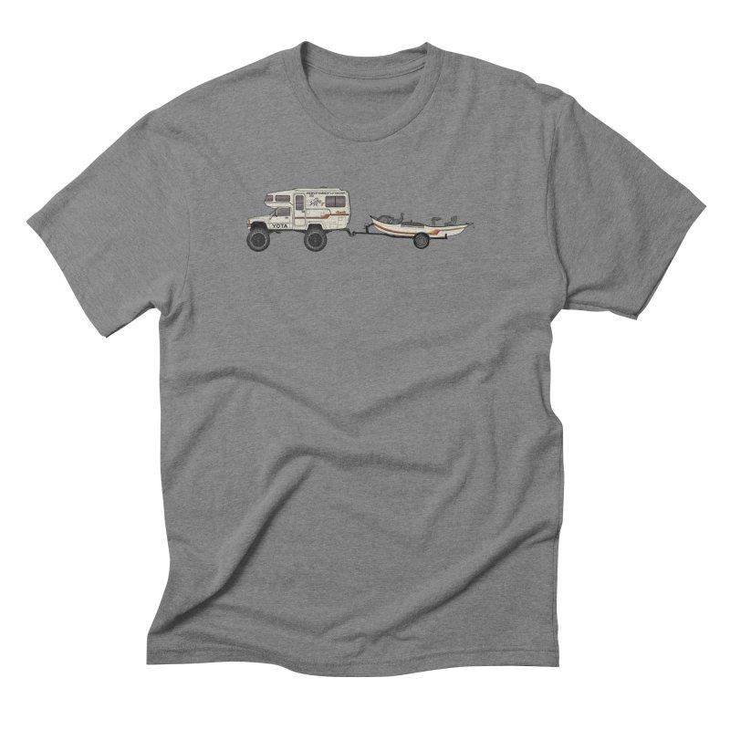 Toyota Sunrader Adventure Rig Men's Triblend T-Shirt by Boneyard Studio - Boneyard Fly Gear