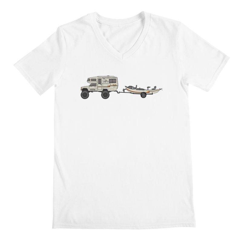 Toyota Sunrader Adventure Rig Men's V-Neck by Boneyard Studio - Boneyard Fly Gear