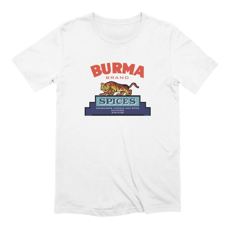 Burma Spices Tiger Logo Men's Extra Soft T-Shirt by Boneyard Studio - Boneyard Fly Gear