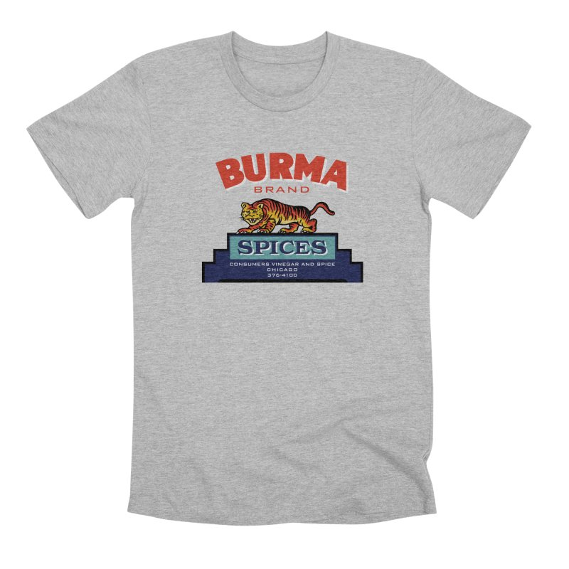 Burma Spices Tiger Logo Men's Premium T-Shirt by Boneyard Studio - Boneyard Fly Gear