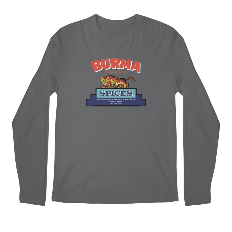 Burma Spices Tiger Logo Men's Longsleeve T-Shirt by Boneyard Studio - Boneyard Fly Gear