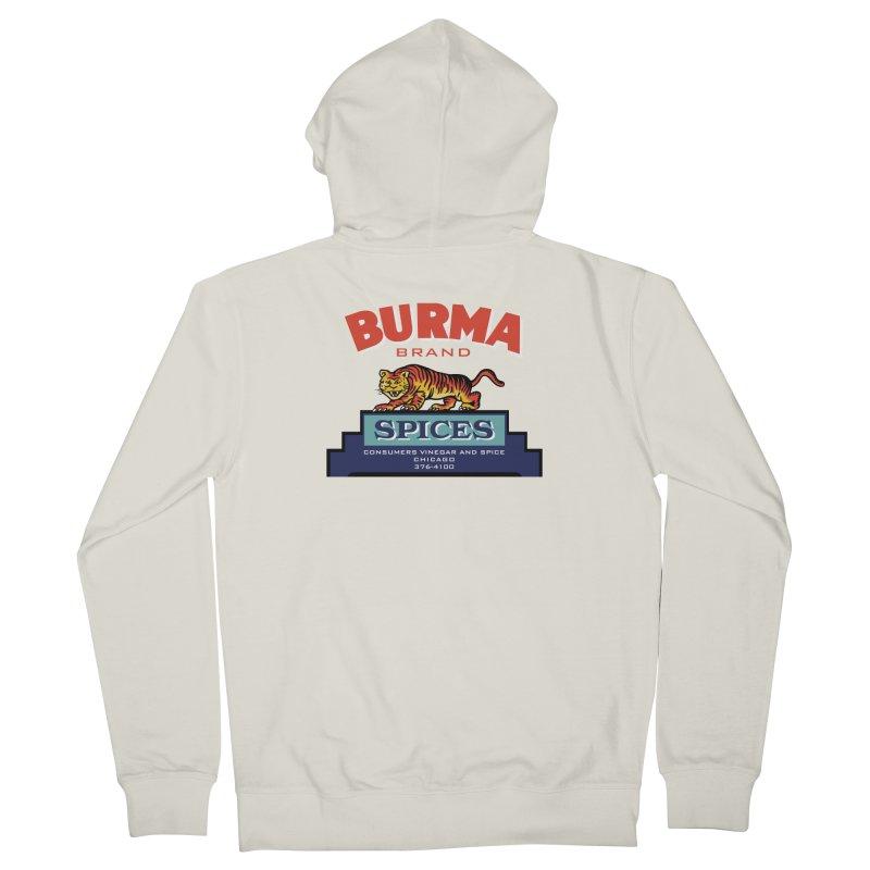 Burma Spices Tiger Logo Men's Zip-Up Hoody by Boneyard Studio - Boneyard Fly Gear