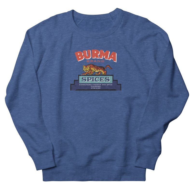 Burma Spices Tiger Logo Men's French Terry Sweatshirt by Boneyard Studio - Boneyard Fly Gear