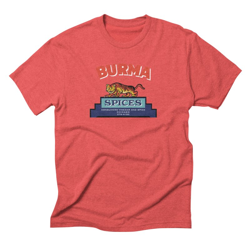 Burma Spices Tiger Logo Men's Triblend T-Shirt by Boneyard Studio - Boneyard Fly Gear