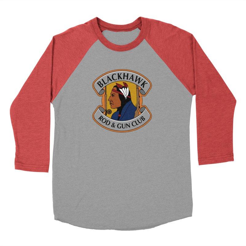 Blackhawk Rod and Gun Men's Baseball Triblend Longsleeve T-Shirt by Boneyard Studio - Boneyard Fly Gear