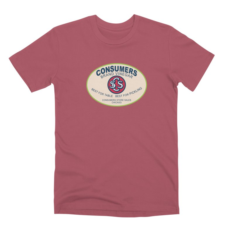Consumers Vinegar Oval Men's Premium T-Shirt by Boneyard Studio - Boneyard Fly Gear