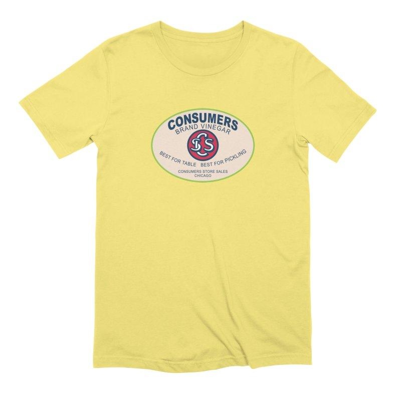 Consumers Vinegar Oval Men's Extra Soft T-Shirt by Boneyard Studio - Boneyard Fly Gear
