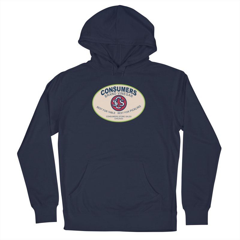 Consumers Vinegar Oval Men's Pullover Hoody by Boneyard Studio - Boneyard Fly Gear