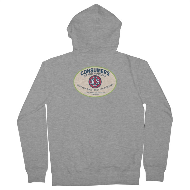 Consumers Vinegar Oval Men's Zip-Up Hoody by Boneyard Studio - Boneyard Fly Gear