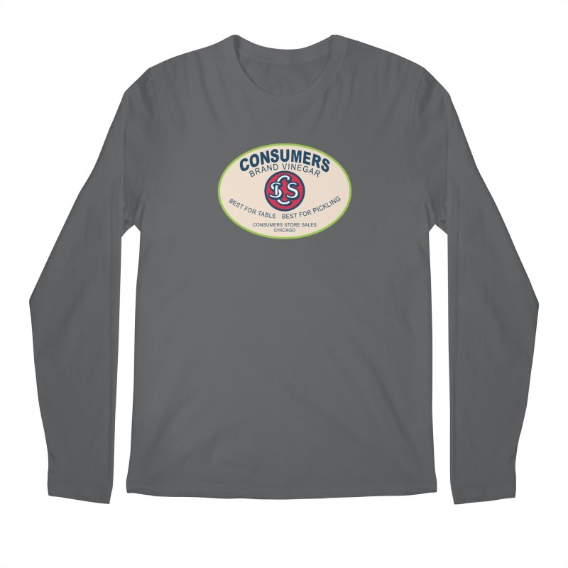 Consumers Vinegar Oval Men's Longsleeve T-Shirt by Boneyard Studio - Boneyard Fly Gear