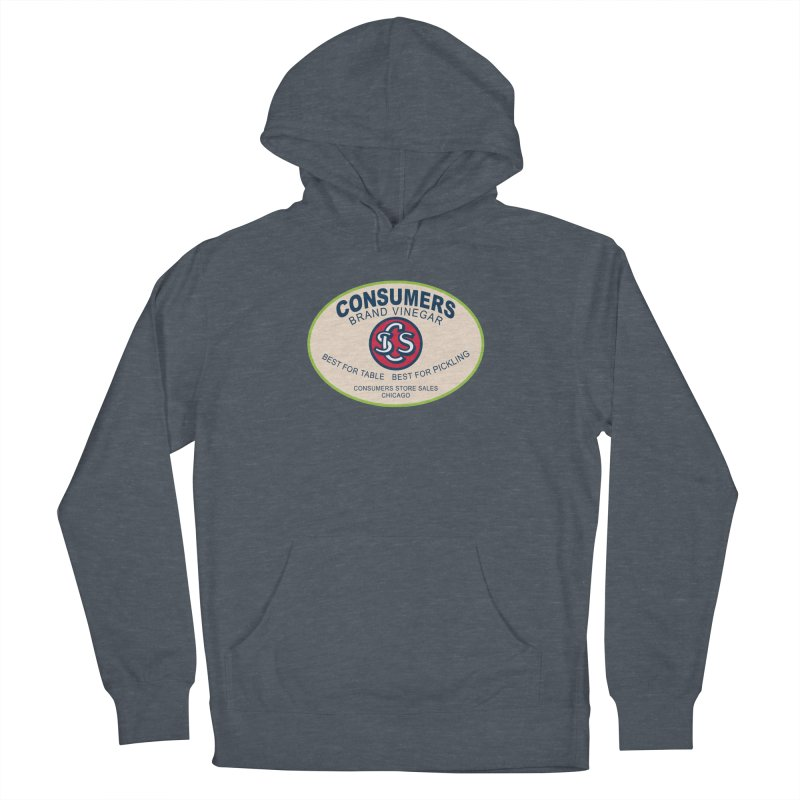 Consumers Vinegar Oval Men's French Terry Pullover Hoody by Boneyard Studio - Boneyard Fly Gear