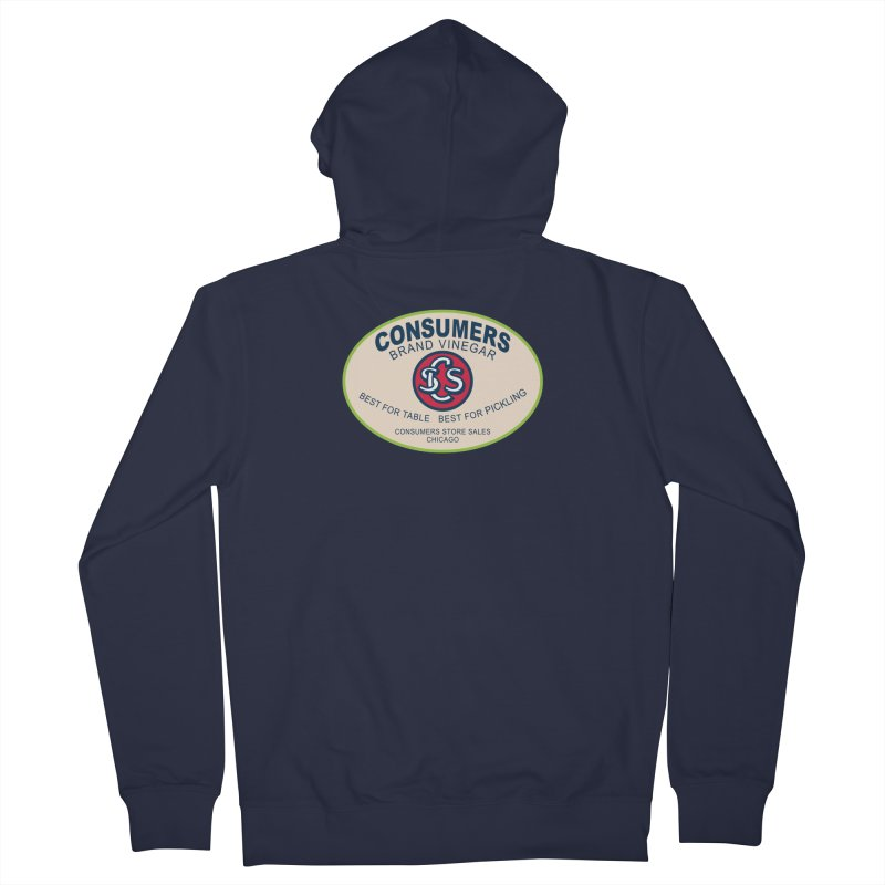 Consumers Vinegar Oval Men's French Terry Zip-Up Hoody by Boneyard Studio - Boneyard Fly Gear