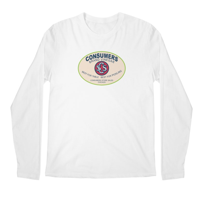 Consumers Vinegar Oval Men's Regular Longsleeve T-Shirt by Boneyard Studio - Boneyard Fly Gear