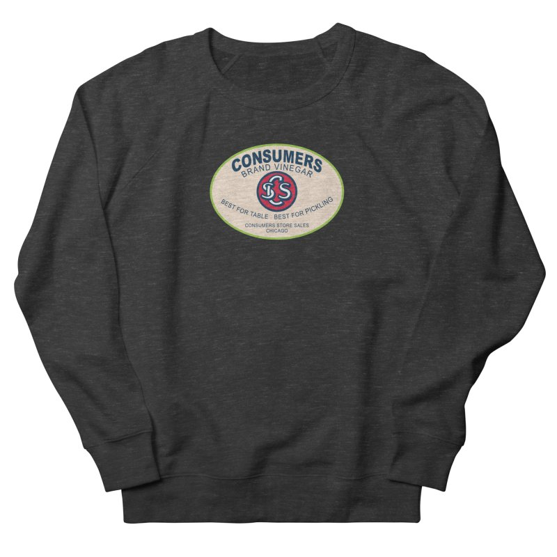 Consumers Vinegar Oval Men's French Terry Sweatshirt by Boneyard Studio - Boneyard Fly Gear