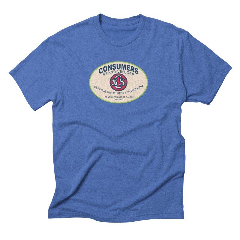 Consumers Vinegar Oval Men's T-Shirt by Boneyard Studio - Boneyard Fly Gear
