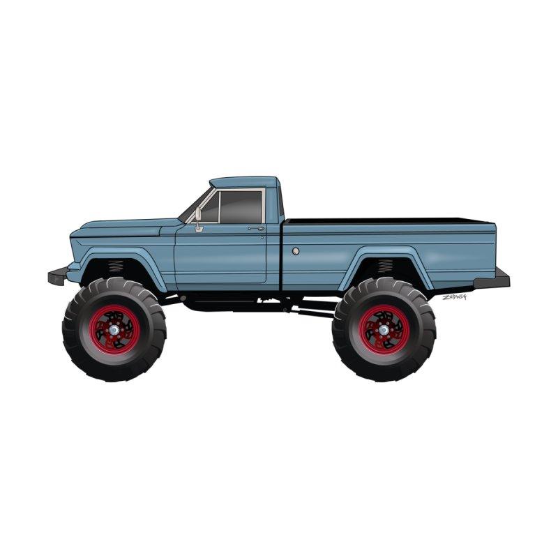 Vintage Jeep Truck Home Fine Art Print by Boneyard Studio - Boneyard Fly Gear