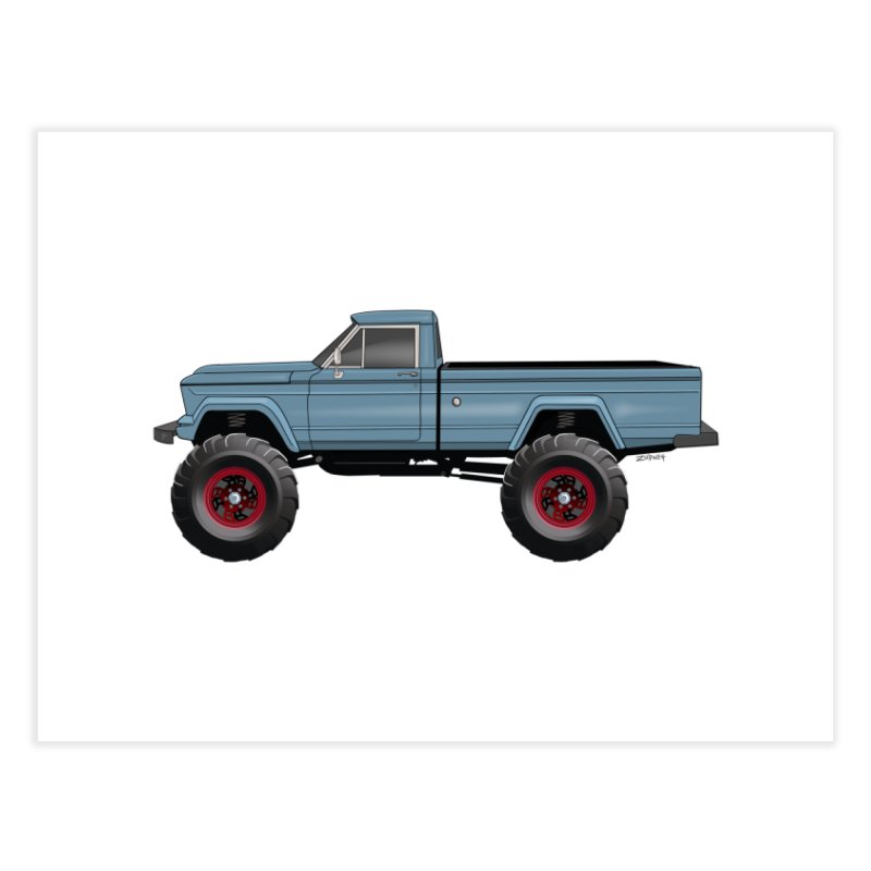 Vintage Jeep Truck Home Fine Art Print by Boneyard Studio - Boneyard Fly Gear