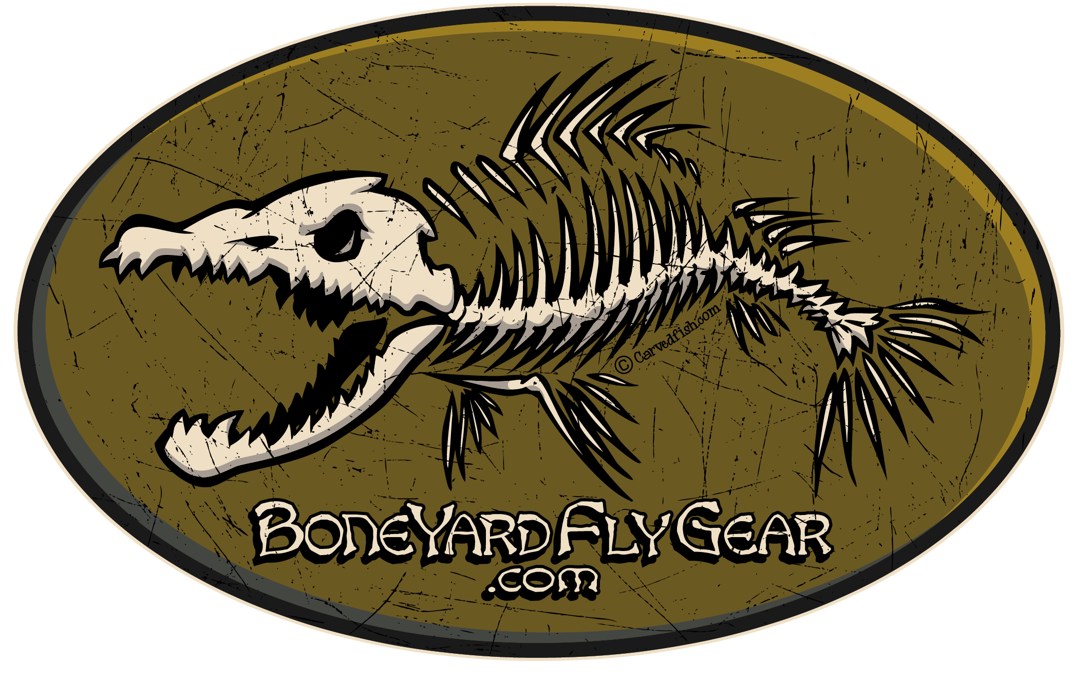 Boneyard Studio - Boneyard Fly Gear Logo