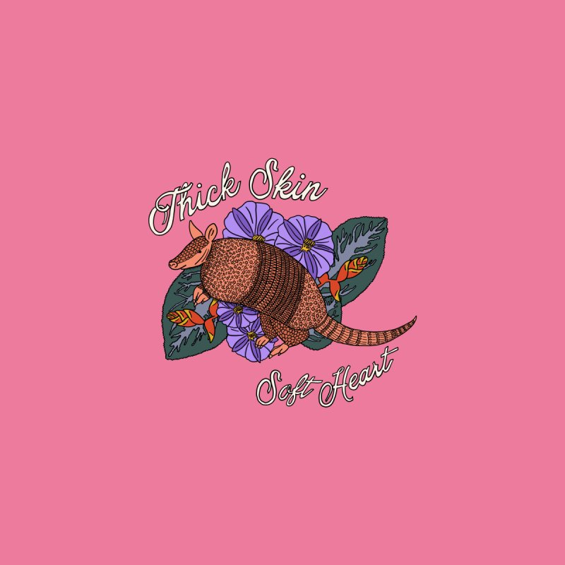 Thick Skin Armadillo Home Stretched Canvas by BoogerQueen's Artist Shop