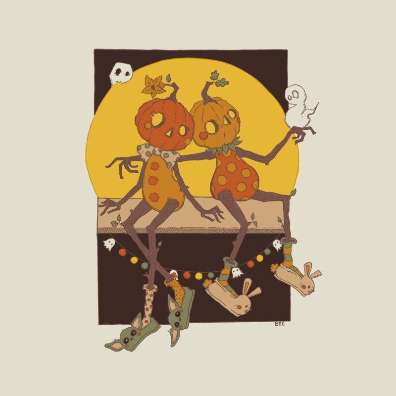 Pumpkin Love Home Stretched Canvas by BoohausDesigns's Artist Shop