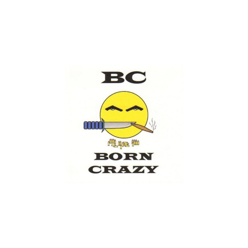 BC Sticker Logo by Born Crazy Store
