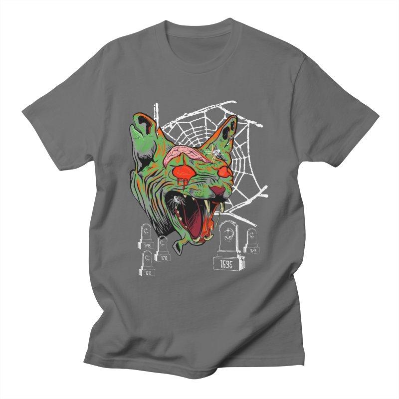 Zombie Lover Zombie Cat Halloween Horror Men's T-Shirt by Boutiquette