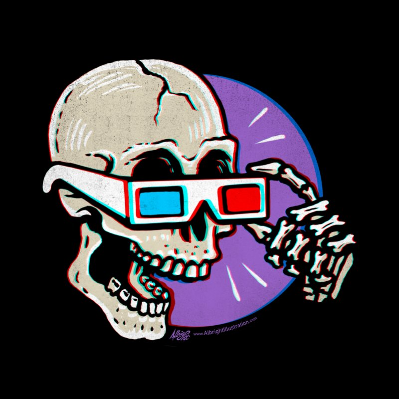 3D Glasses are Skull Cracking Fun by Brad Albright Illustration Shop