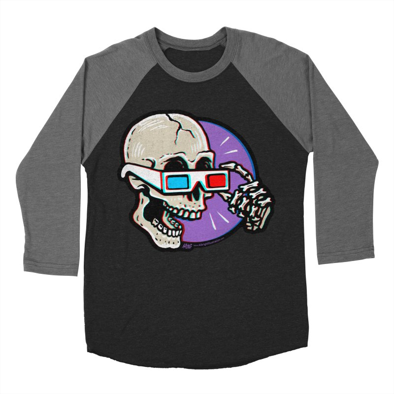 3D Glasses are Skull Cracking Fun Women's Longsleeve T-Shirt by Brad Albright Illustration Shop