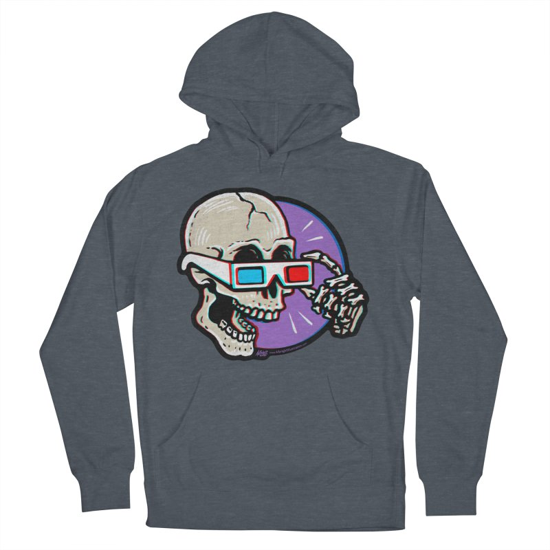 3D Glasses are Skull Cracking Fun Women's Pullover Hoody by Brad Albright Illustration Shop