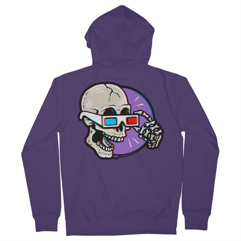 3D Glasses are Skull Cracking Fun Women's Zip-Up Hoody by Brad Albright Illustration Shop