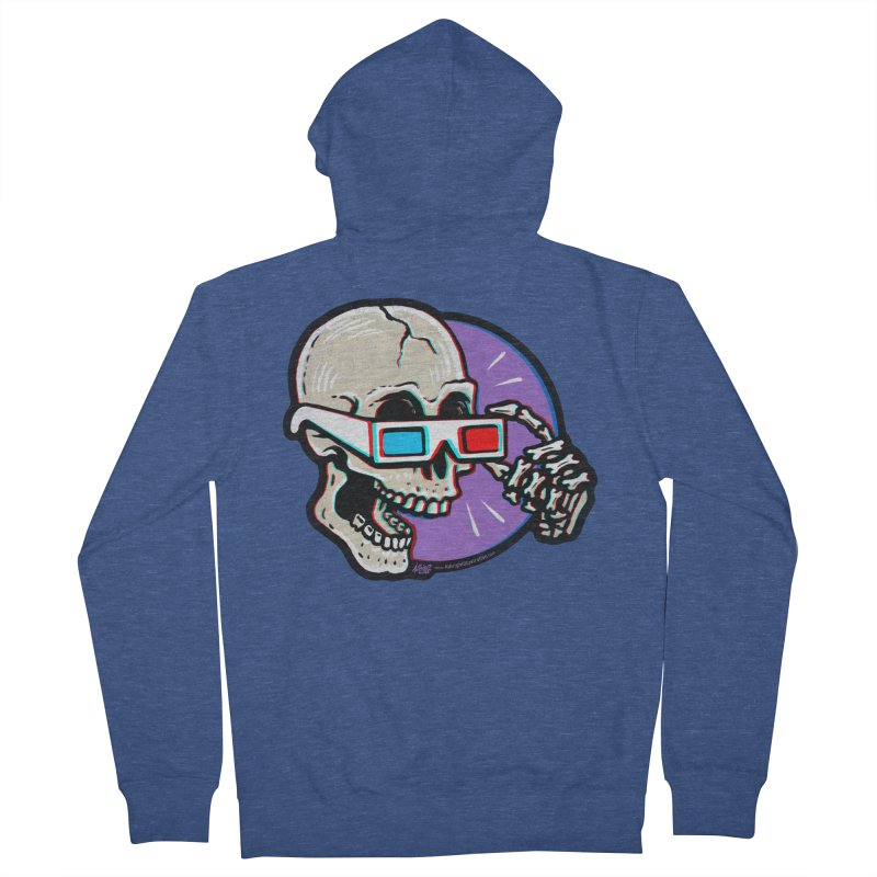 3D Glasses are Skull Cracking Fun Men's Zip-Up Hoody by Brad Albright Illustration Shop