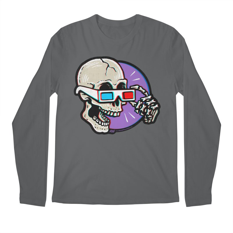 3D Glasses are Skull Cracking Fun Men's Longsleeve T-Shirt by Brad Albright Illustration Shop