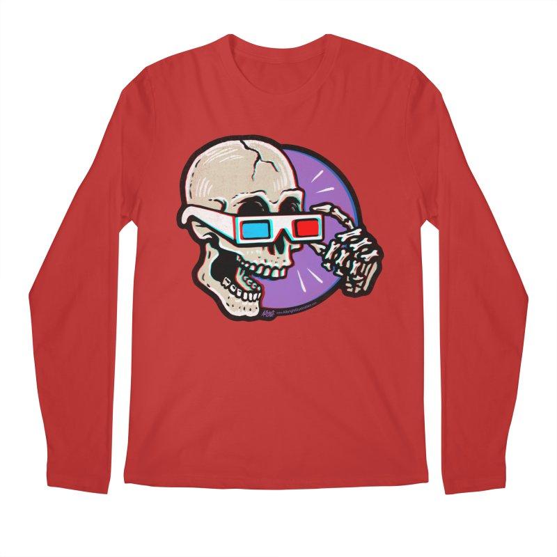 3D Glasses are Skull Cracking Fun Men's Longsleeve T-Shirt by Brad Albright Illustration Shop