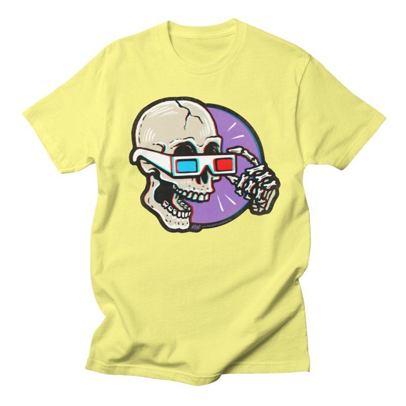 3D Glasses are Skull Cracking Fun Men's T-Shirt by Brad Albright Illustration Shop