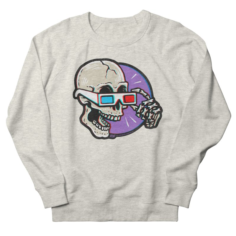 3D Glasses are Skull Cracking Fun Women's Sweatshirt by Brad Albright Illustration Shop