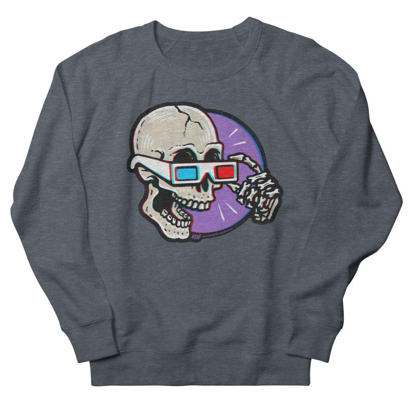 3D Glasses are Skull Cracking Fun Men's Sweatshirt by Brad Albright Illustration Shop