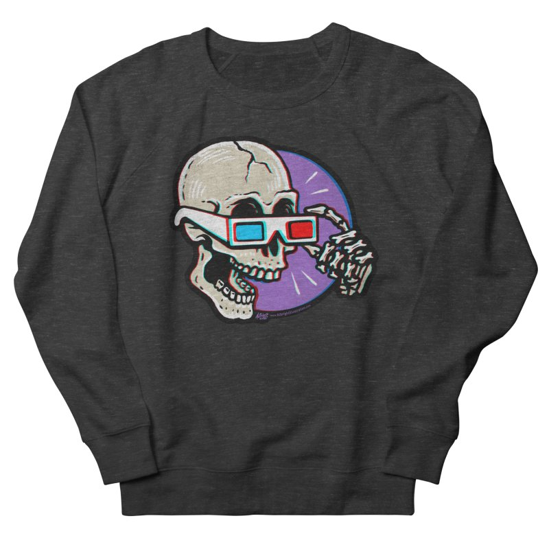 3D Glasses are Skull Cracking Fun Men's Sweatshirt by Brad Albright Illustration Shop