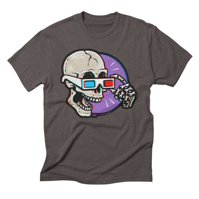 3D Glasses are Skull Cracking Fun Men's Triblend T-Shirt by Brad Albright Illustration Shop