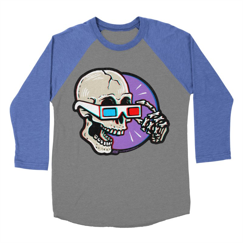 3D Glasses are Skull Cracking Fun Men's Baseball Triblend T-Shirt by Brad Albright Illustration Shop